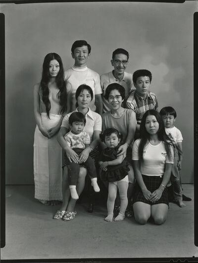 Masahisa Fukase, 'From the upper left: my wife Yoko, my brother Toshiteru, my father Sukezo, my sister's husband Hisashi Daikouji. From the bottom left: my brother's wife Akiko, and my sister's eldest son Manabu, my mother Mitsue, my brother's eldest daughter Kyoko, my sister Kanako and my brother's eldest son Takuya', 1971