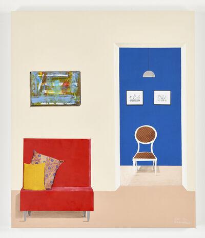 Sam Nhlengethwa, 'Red chair', 2020