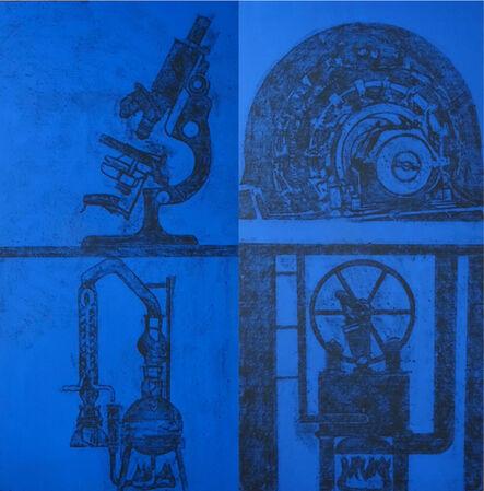 Matt Mullican, 'Dallas Projects (Panels 39-40: House and Machines) ', 1987