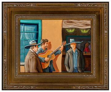 Kim Wiggins, 'Kim Douglas Wiggins Original Oil Painting On Board Signed Illustration Artwork', 2008