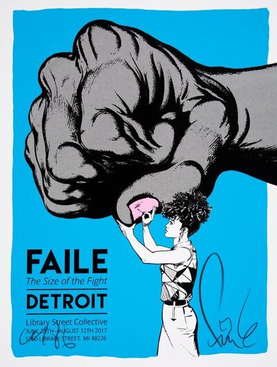 FAILE, 'Size of the Fight Show Print (Pink)', 2017