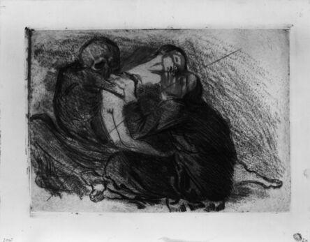 Käthe Kollwitz, 'Death Snatches a Child from its Mother', 1911