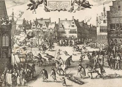 Claes Jansz Visscher, 'Supplicium de octo coniuratis sumtum in Britannia (....) The execution of the conspirators in the Gunpowder Plot, 30 and 31 January 1606.', 1606