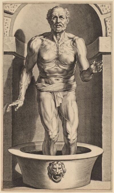 Cornelis Galle I after Sir Peter Paul Rubens, 'Seneca Standing in the Bath'