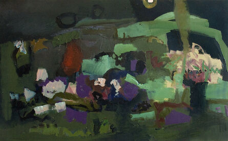 Jennifer Hornyak, 'Violet with Aqua and Cream', 2017