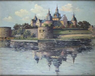Nils Golbe, 'Castle By the Lake', 1946