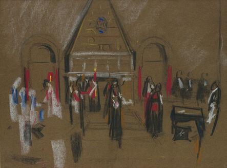 David Bomberg, 'Armenian Church, Jerusalem', 1923