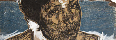 Swoon, 'Untitled (Woman On Blue)', 2008