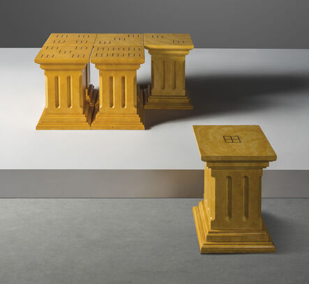 Charles Jencks, 'A unique set of six 'Dice Table-Seats'', 1985