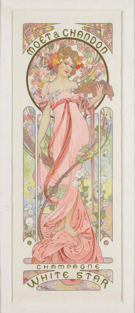 Alphonse Mucha, ' MOËT & CHANDON: CHAMPAGNE WHITE STAR', 1899