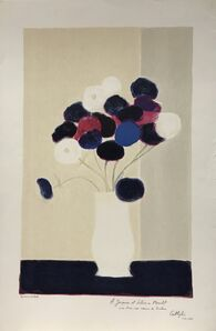 Bernard Cathelin, 'Anemones à la table noir', 1989