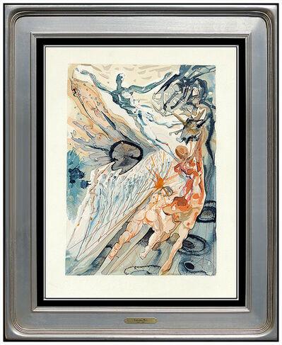 Salvador Dalí, 'Salvador Dali Purgatory Canto Divine Comedy Woodblock Engraving Surreal Framed', 1963