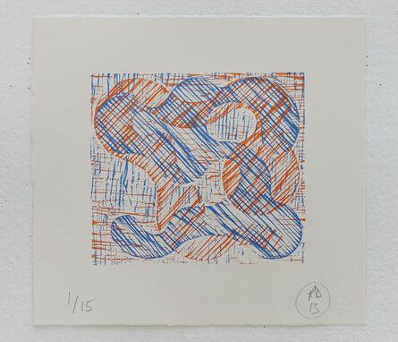 Richard Deacon, '1+1=10 Orange/Blue', 2013