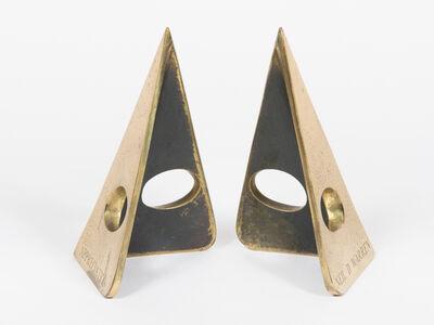 Carl Auböck, 'Triangular Brass Bookends ', ca. 1970