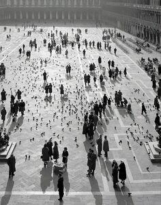 Elio Ciol, 'Piazza San Marco, Venezia', 1955