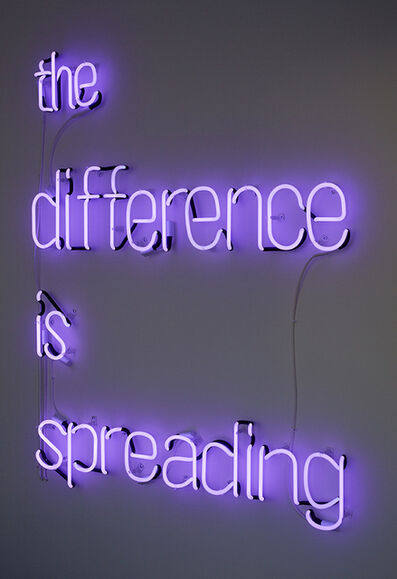 Eve Fowler, 'the difference is spreading', 2015
