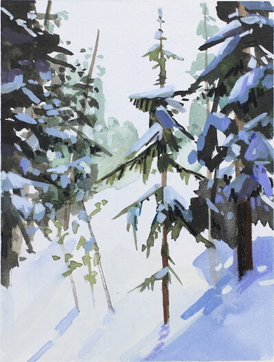 Claire Sherman, 'Snow and Trees', 2015