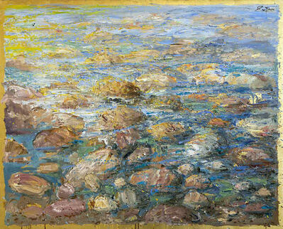 Bruno Zupan, 'Rocks and Sea, Green Tones', 2021