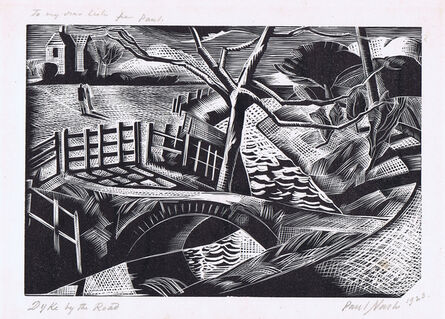 Paul Nash, 'Dyke by the Road', 1922