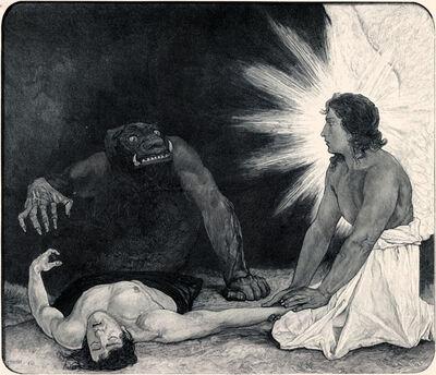 Sascha Schneider, 'Un Eine Seele', 1894-1895