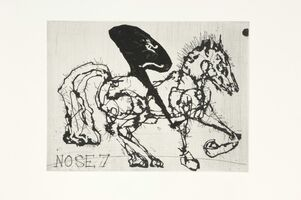 William Kentridge, 'Nose 7', 2008