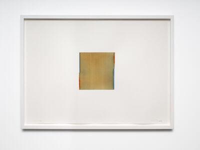 Callum Innes, 'Cerulean Blue / Quincadrone Gold (no. 30.)', 2013