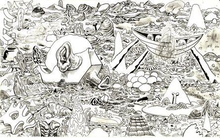 Trenton Doyle Hancock, 'Cave Scape #2', 2010