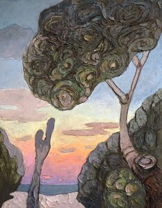 Edit Hermkens, 'Pinus Pinea and the Sunset', 2020