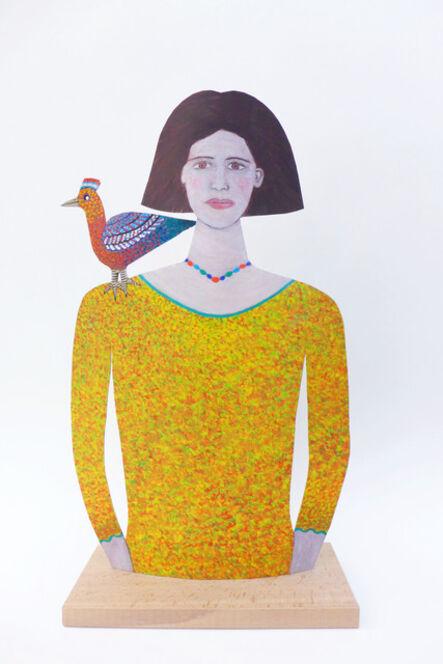 Jean Dessirier, 'Jeune femme avec un oiseau sur l'épaule', 2015