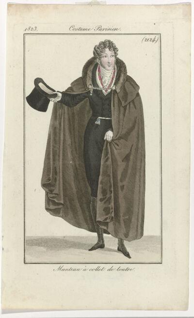 '15 Janvier 1823, (2124): Manteau à collet de loutre (January 15, 1823 [2124]: Coat with otter collar)', 1823