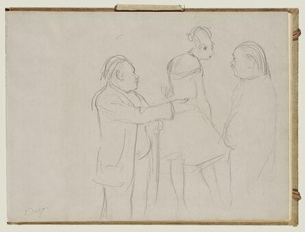 Edgar Degas, 'Sketches of a Ballet Master', 1877