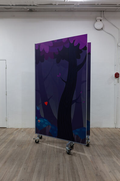 Sam Pulitzer, 'Double Vision Crafts Mobile Wall Structure; Design: Arcadian Musings (Friedrich Höderlin)', 2014