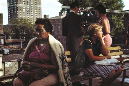 Vivian Maier, 'People on Bench (VM1977K05220-30-MC)', 1977