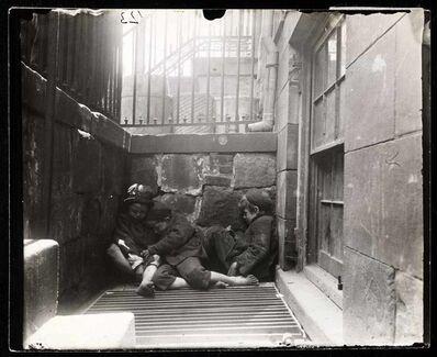 Jacob A. Riis, 'Street Arabs in sleeping quarters'