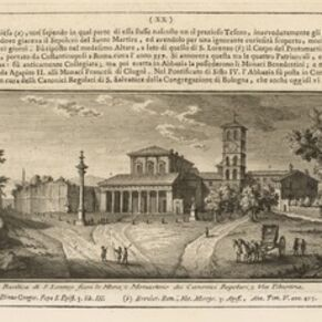 Giuseppe Vasi, 'Basilica di S. Lorenzo fuori le Mura', 1747