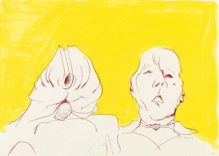 Maria Lassnig, 'Doppelselbstporträt', 2008