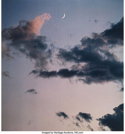 Eliot Porter, 'New Mexico, Crescent Moon; New Mexico, Full Moon with Mountains; New Mexico (three cloud studies)', 1958
