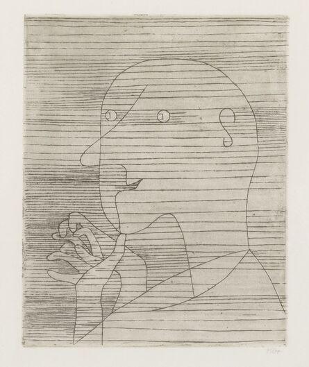 Paul Klee, 'Rechnender Greis (Kornfeld 104)', 1929