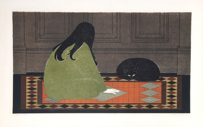 Will Barnet, 'Dialogue in Green', 1970