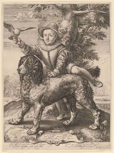 Hendrik Goltzius, 'Frederik de Vries', 1597