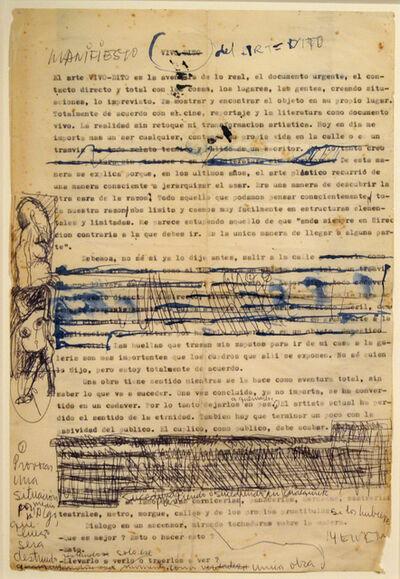 Alberto Greco, 'Manifiesto del Arte Dito', 1963