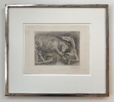 Pablo Picasso, ' Taureau attaquant un Cheval', 1921