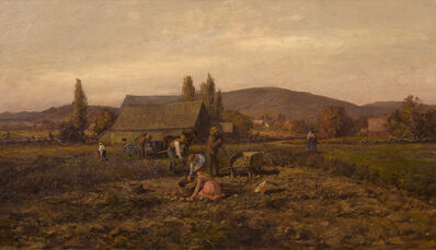 William Preston Phelps, 'Harvesting Potatoes', 1870-1880