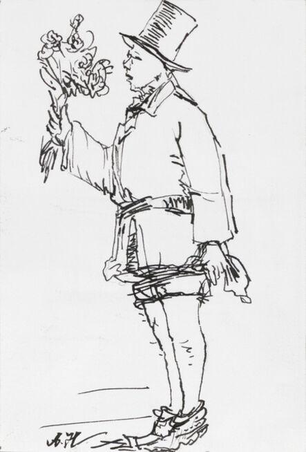 Yang Jiechang 杨诘苍, 'Young Man with Flowers 1924-2014 No. 2 花少年 1924-2014 2号', 2014