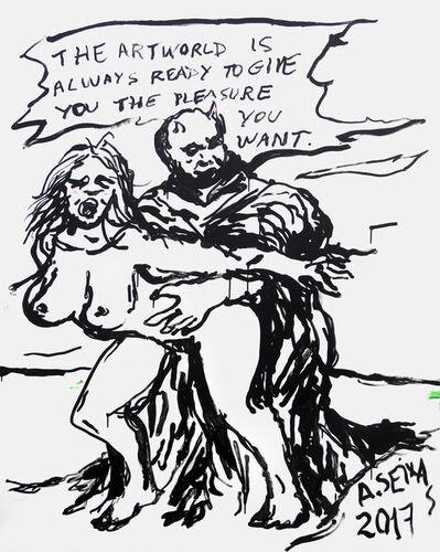 Alvaro Seixas, 'Pintura sem título (The artworld is always ready...)', 2017