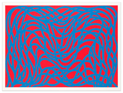 Sol LeWitt, 'Loopy Doopy, Blue/Red', 2000