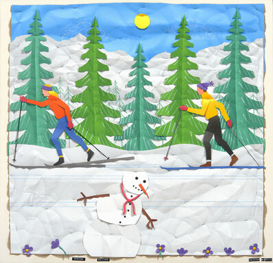 Bill Braun, 'Spring Skiing'