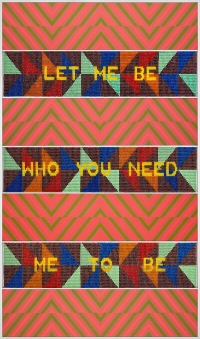 Jeffrey Gibson, 'LET ME BE WHO YOU NEED ME TO BE', 2020
