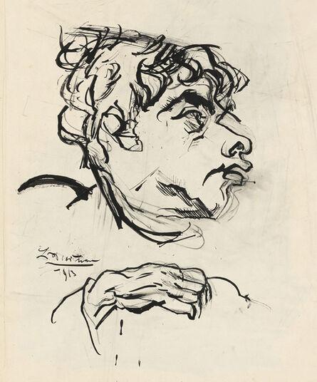 Ludwig Meidner, 'Jakob van Hoddis', 1913