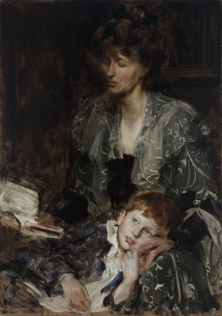 SIR JAMES JEBUSA SHANNON, 'Christabel Cockerell and her son Meredith Frampton', 1901